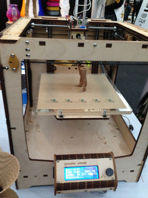 Ultimaker printing  with Wood Fill by Colour Fabb